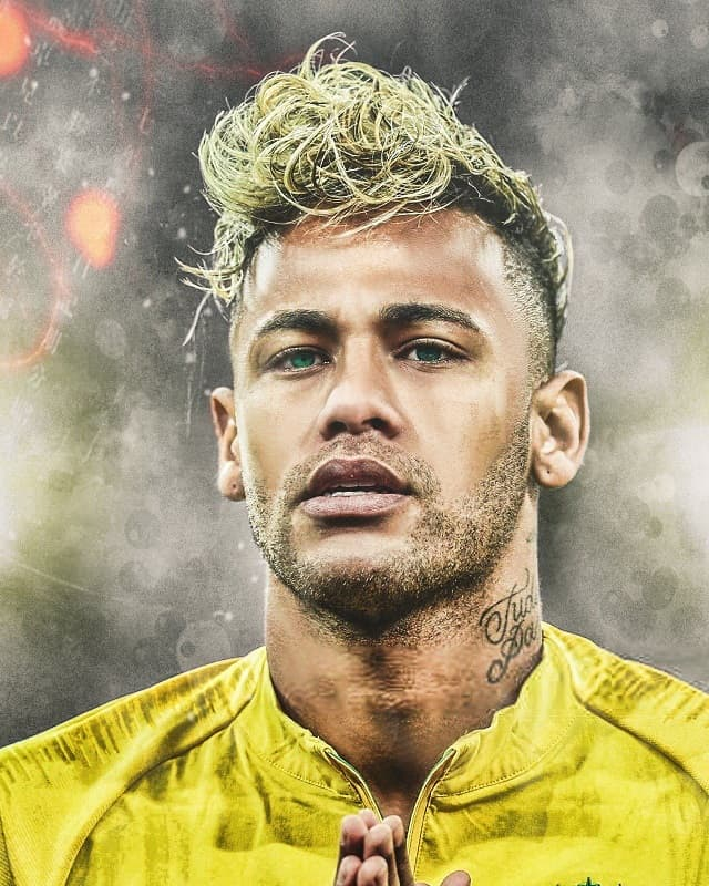 Neymar Jr with blonde hair