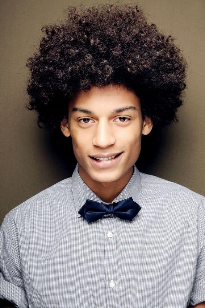 men's afro hairstyle