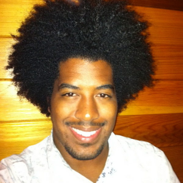 mens afro hairstyle