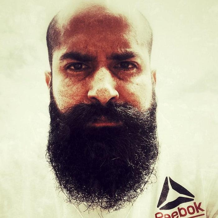 hipster beard with bald head