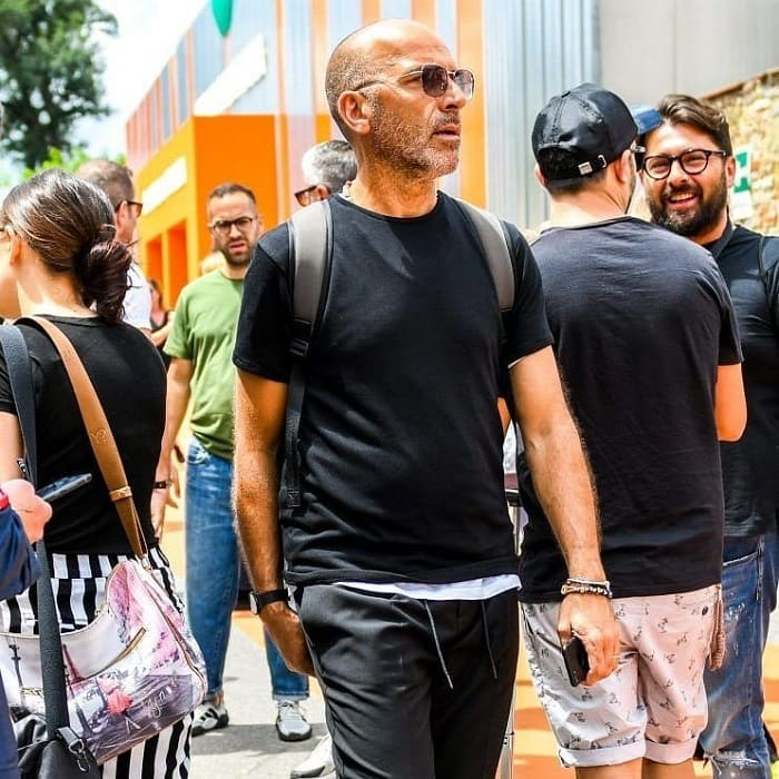 bald men with stubble beards