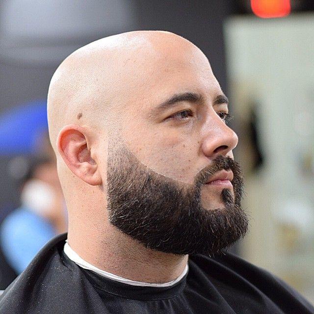 bald men with short boxed beard