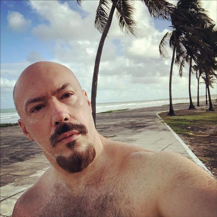 bald guy with anchor beard
