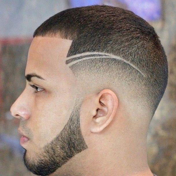 side shaved head design for men