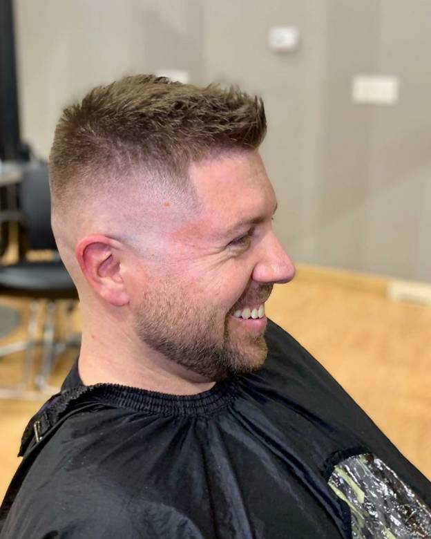 Crew Cut With High Bald Fade
