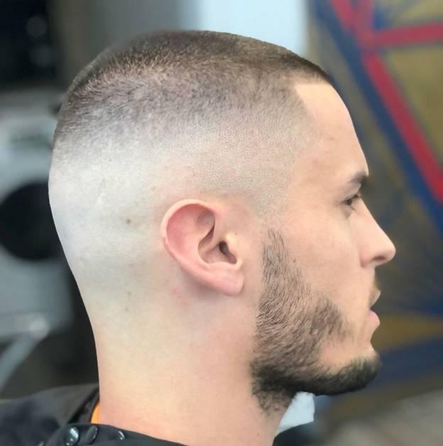 short hair with high bald fade
