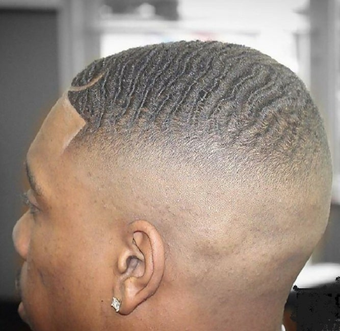 360 Degree Waves with High Bald Fade