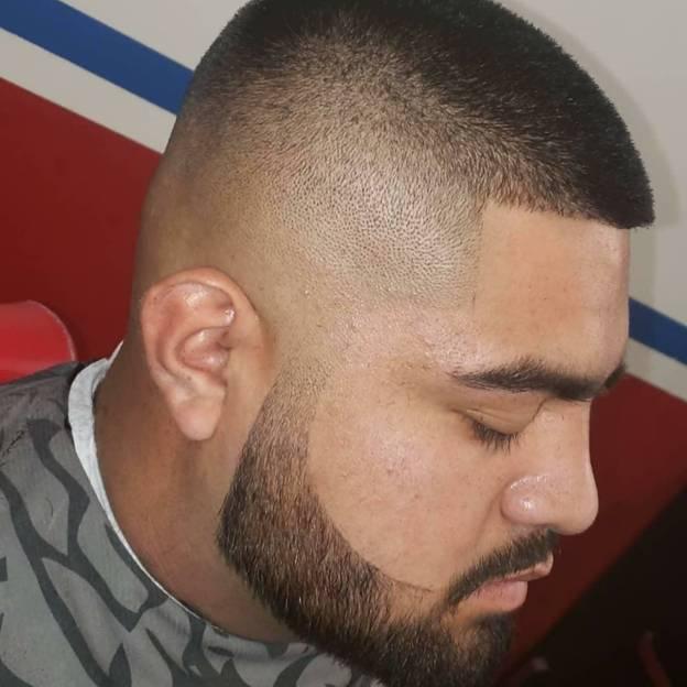 high & tight bald fade cut