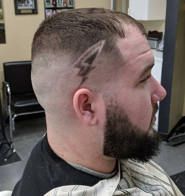 french cropped hair with high bald fade haircut