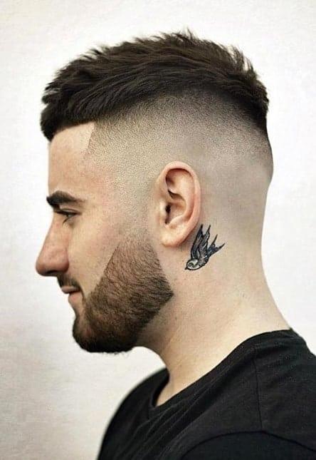 high top bald fade for men
