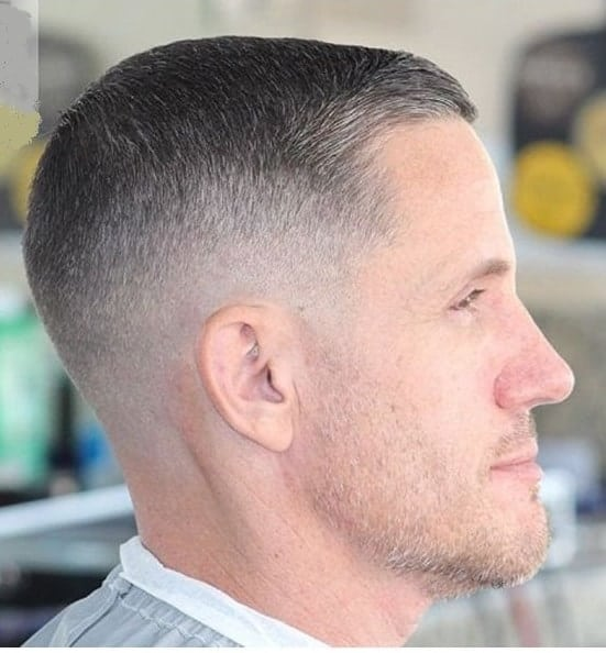 men's induction cut with fade