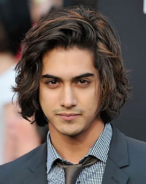 indian men shaggy hairstyles for long hair