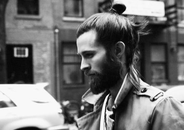 Man bun hairstyle
