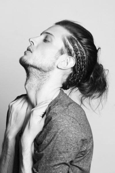 Man bun hairstyle