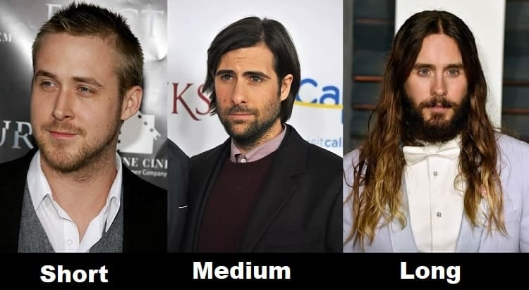 basic hair length types for men