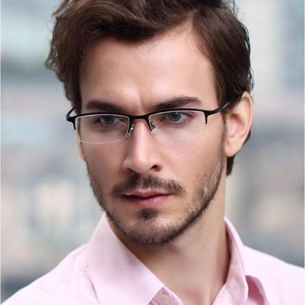 semi-rimless mens sunglasses