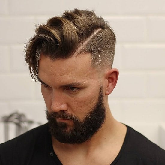 side part hairstyle