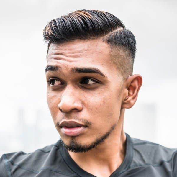 mens side part haircut