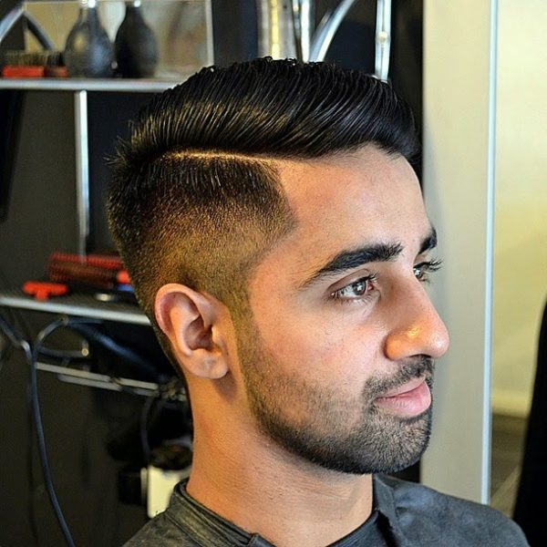 mens side part hairstyle