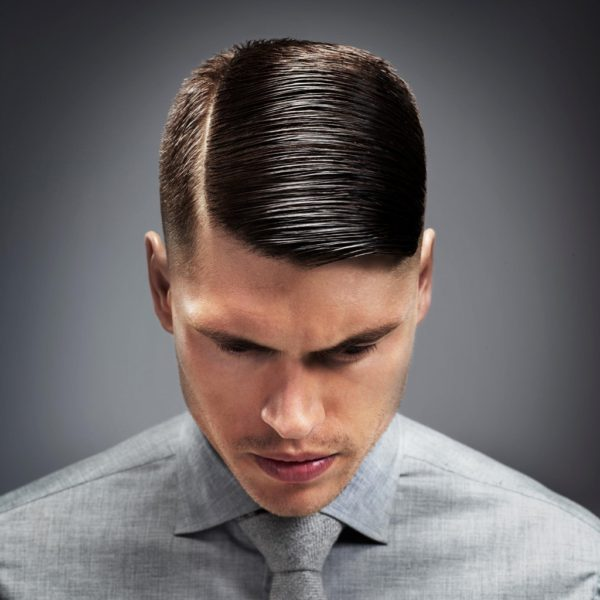 mens side part haircut