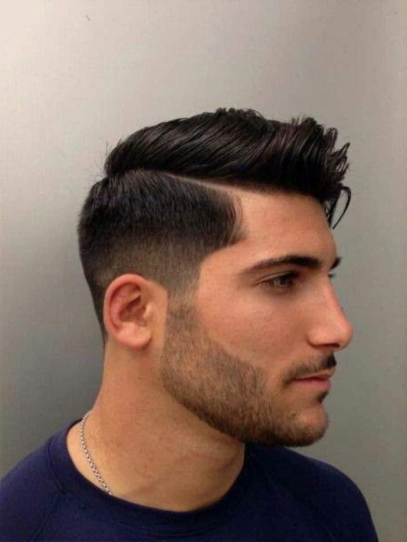 mens side part haircut |