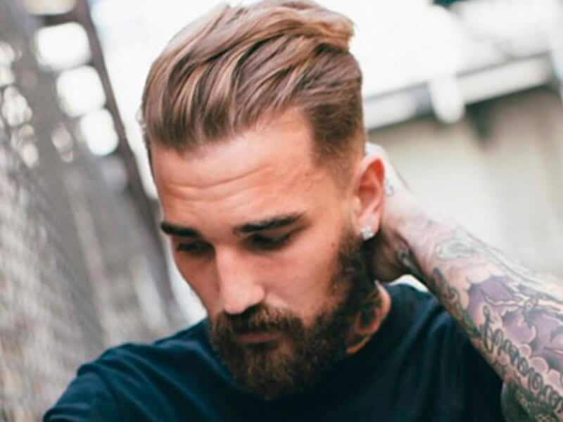 mens slick back hairstyle