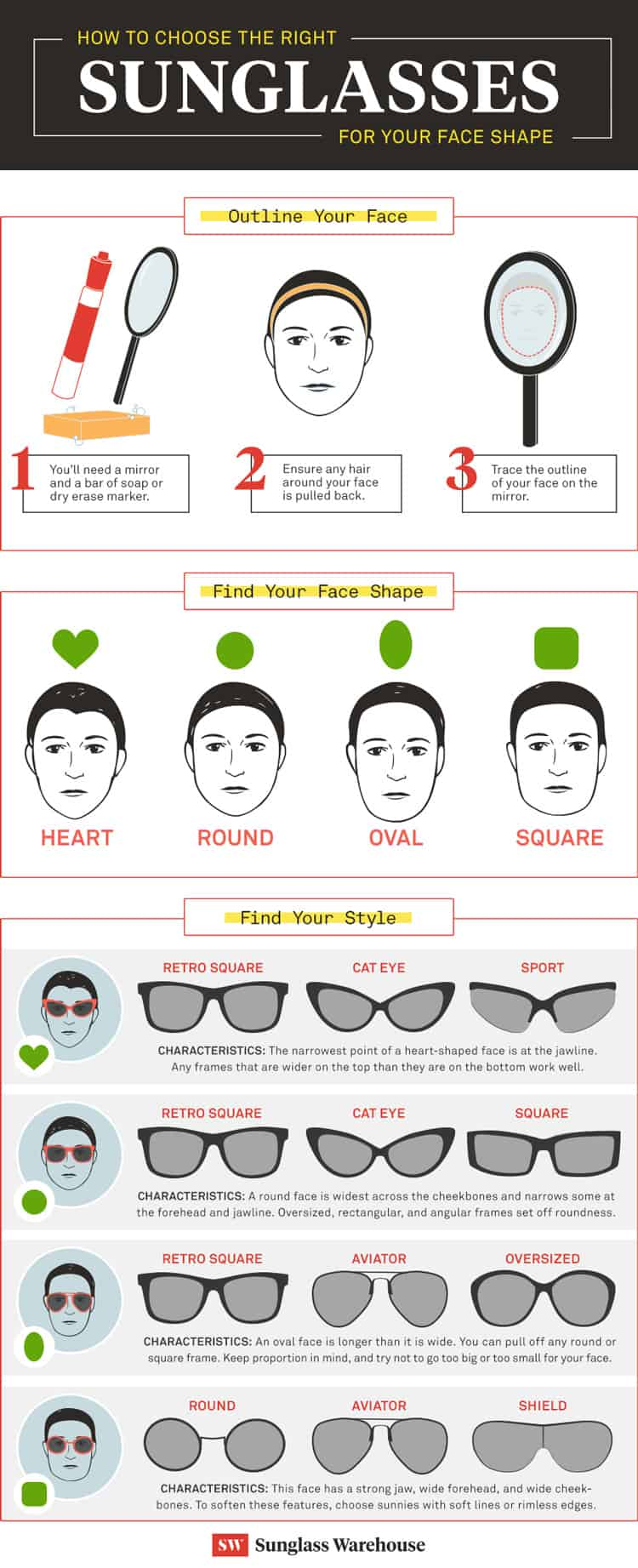 sunglasses shape