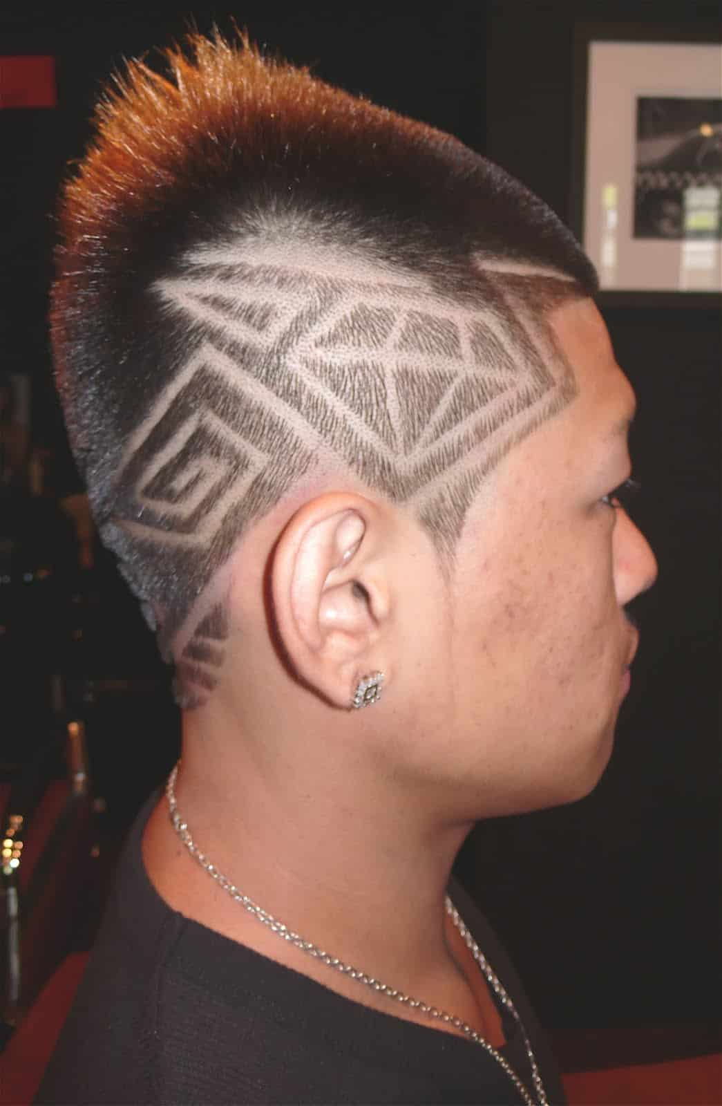 mens tramlines haircut